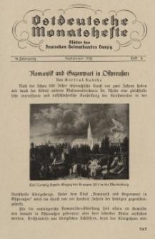 Ostdeutsche Monatshefte Nr. 6, September 1933, 14 Jahrgang