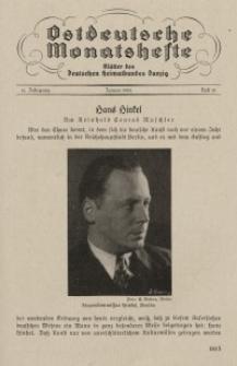 Ostdeutsche Monatshefte Nr. 10, Januar 1934, 14 Jahrgang