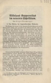 Nikolaus Koppernikus im neueren Schrifttum