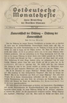 Ostdeutsche Monatshefte Nr. 2, Mai 1936, 17 Jahrgang