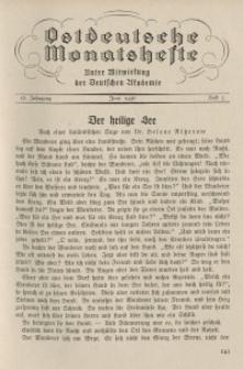 Ostdeutsche Monatshefte Nr. 3, Juni 1936, 17 Jahrgang