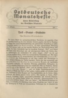 Ostdeutsche Monatshefte Nr. 5, August 1936, 17 Jahrgang
