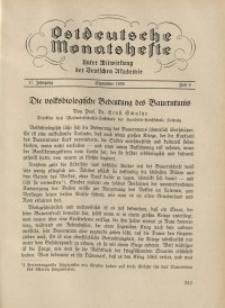 Ostdeutsche Monatshefte Nr. 6, September 1936, 17 Jahrgang