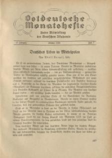 Ostdeutsche Monatshefte Nr. 7, Oktober 1936, 17 Jahrgang