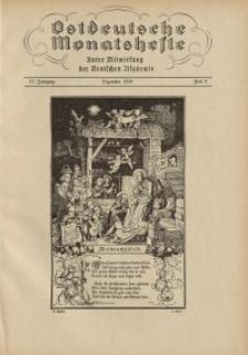 Ostdeutsche Monatshefte Nr. 9, Dezember 1936, 17 Jahrgang