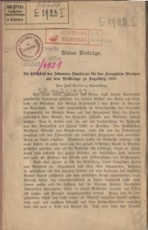 Die Tätigkeit des Johannes Dantiscus für das Herzogtum Preussen auf dem Reichstage zu Augsburg 1530