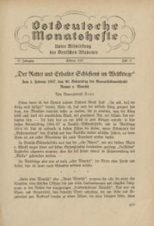 Ostdeutsche Monatshefte Nr. 11, Februar 1937, 17 Jahrgang