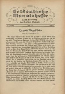 Ostdeutsche Monatshefte Nr. 12, März 1937, 17 Jahrgang