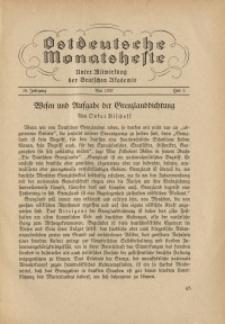 Ostdeutsche Monatshefte Nr. 2, Mai 1937, 18 Jahrgang
