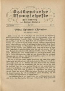 Ostdeutsche Monatshefte Nr. 3, Juni 1937, 18 Jahrgang