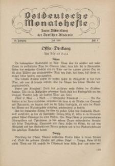 Ostdeutsche Monatshefte Nr. 4, Juli 1937, 18 Jahrgang