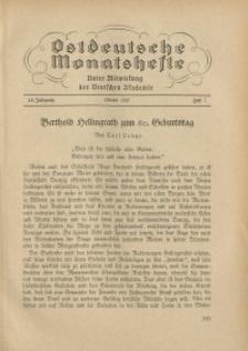 Ostdeutsche Monatshefte Nr. 7, Oktober 1937, 18 Jahrgang