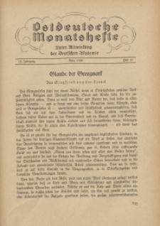 Ostdeutsche Monatshefte Nr. 12, März 1938, 18 Jahrgang