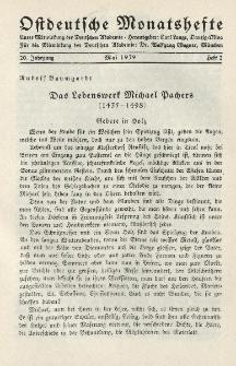Ostdeutsche Monatshefte Nr. 2, Mai 1939, 20 Jahrgang