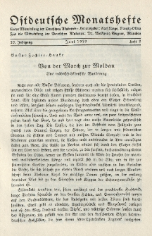 Ostdeutsche Monatshefte Nr. 3, Juni 1939, 20 Jahrgang
