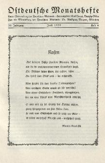 Ostdeutsche Monatshefte Nr. 4, Juli 1939, 20 Jahrgang