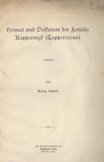 Heimat und Volkstum der Familie Koppernigk (Coppernicus)