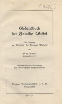 Gedenkbuch der Familie Wessel