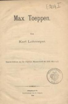 Max Toeppen