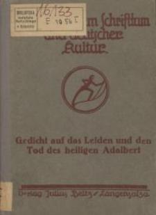 Gedicht auf das Leiden und den Tod des heil. Adalbert, Bischofes und Martyrers : Poggezana