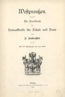 Westpreussen : Ein Handbuch der Heimatkunde für Schule und Haus