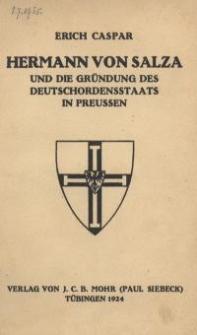 Hermann von Salza und die Gründung des Deutschordensstaats in Preussen