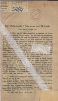Die Malerfamilie Niedermann aus Guttstadt