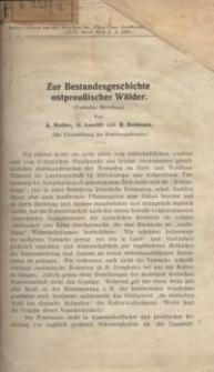 Zur Bestandesgeschichte ostpreußischer Wälder