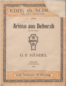 """Arioso aus Deborah : """"Ich bin erhört"""""""