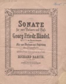 Sonate für zwei Violinen und Bass. Op. 2 No. 8