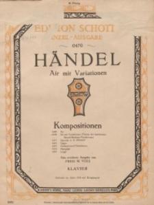 Aria mit Variationen :Thema der berühmten Brahms-Variationen