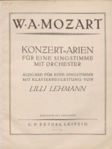 Konzert-Arien für eine Singstimme mit Orchester