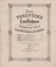 Neun Tonstücke. IV : Menuett ( Aus den Menuetten für Orchester No. 12.)