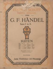 Suite I in A : Klavier