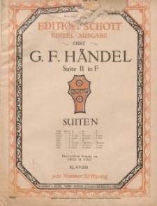 Suite II in F : Klavier