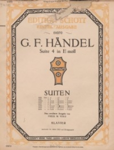 Suite 4 in E-moll : Klavier