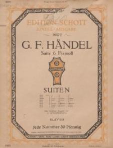 Suite 6 in Fis-moll : Klavier