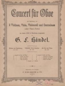 Concert für Oboe mit Begleitung von 2 Violinen, Viola, Violoncell und Contrabass (oder Piano-Forte)