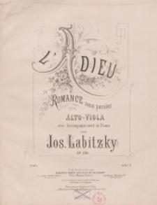 L'adieu: Romance sans paroles. Op.286. Viola