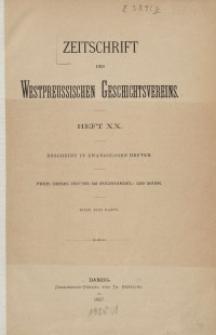 Zeitschrift des Westpreußischen Geschichtsvereins, 1887-1888, H. 20-23