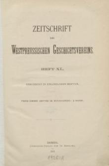 Zeitschrift des Westpreußischen Geschichtsvereins, 1899-1901, H. 40-43