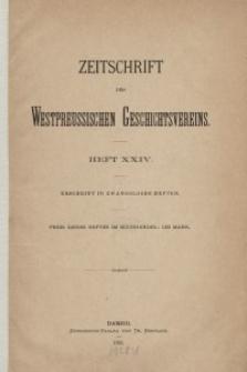 Zeitschrift des Westpreußischen Geschichtsvereins, 1889-1891, H. 24-29