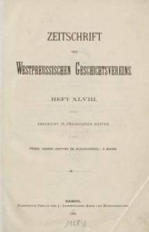 Zeitschrift des Westpreußischen Geschichtsvereins, 1905-1908, H. 48-50