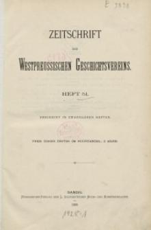 Zeitschrift des Westpreußischen Geschichtsvereins, 1909-1912, H. 51-54