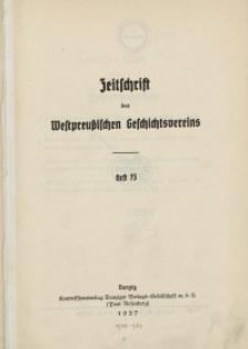 Zeitschrift des Westpreußischen Geschichtsvereins, 1937-1938, H. 73-74