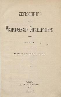 Zeitschrift des Westpreußischen Geschichtsvereins, 1880-1882, H. 1-6