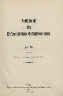 Zeitschrift des Westpreußischen Geschichtsvereins, 1928-1929, H. 68-69
