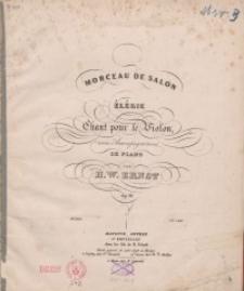 Morceau de salon. Op. 10