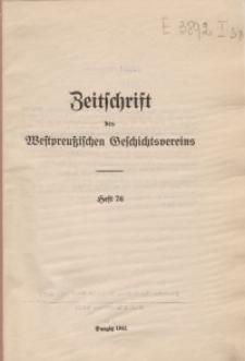 Zeitschrift des Westpreußischen Geschichtsvereins, 1941, H. 76