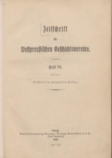 Zeitschrift des Westpreußischen Geschichtsvereins, 1930-1934, H. 70-71